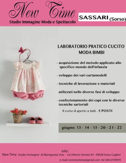 sassari scuola di cucito corsi formazione moda bimbi laboratorio di-cucito e sartoria abiti bimbi