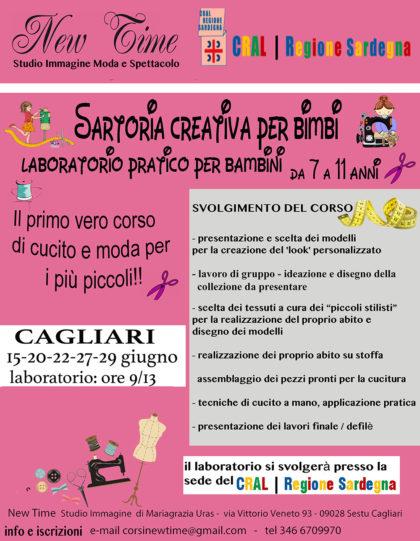 Cagliari laboratorio di cucito ludico didattico per bimbi giugno