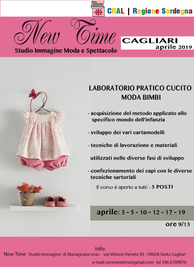 Corsi cucito e laboratorio sartoriale per abbigliamento bimbi aprile 2019