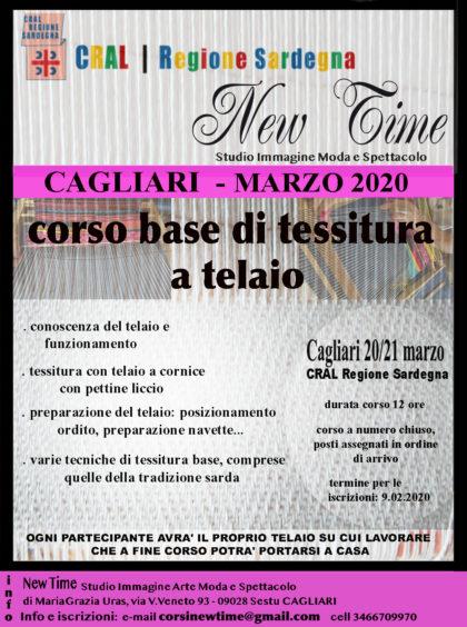 Cagliari corso basi di tessitura a telaio laboratorio artigianato Sardegna arte tradizione