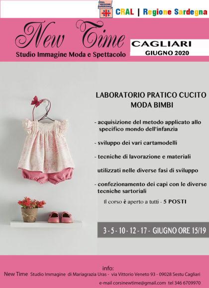 corsi cucito Cagliari realizzazioni sartoriali abbigliamento moda bimbi ripartenza fase2 Sardegna